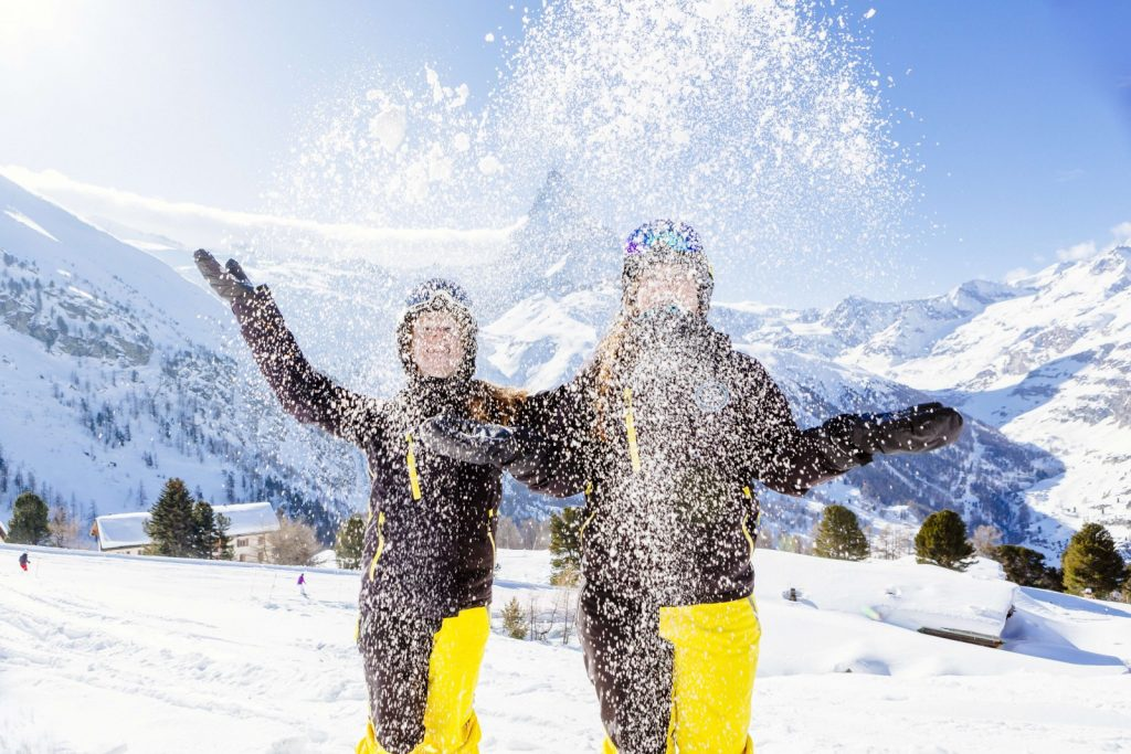 ski instructors enjoy snow with Snowvation